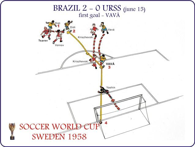 Brazil 2 x 0 URSS - 1ºgol